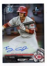 T.J. FRIEDL MLB 2017 BOWMAN CHROME PROSPECT AUTOGRAPHS  (CINCINNATI REDS)
