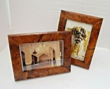 RARE THUYA WOOD FREE STANDING PICTURE FRAME 23 cm x 18 cm