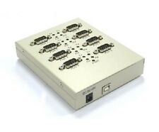 VSCom USB to 8-port serial adapter, RS232, metal, transmit/receive LEDs, FTDI