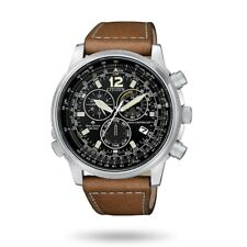 Orologio da uomo CITIZEN Radiocontrollato Crono Pilot Acciaio CB5860-27E NUOVO