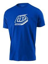 Tld Para hombres Camiseta Racing Escudo Azul Troy Lee Designs Manga Corta Informal