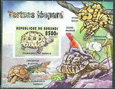 BURUNDI 2014 TURTLES  SOUVENIR SHEET  IMPERFORATED MINT NH