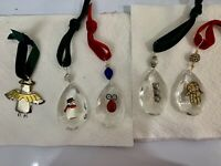 Crystal Prisms Christmas Ornaments-Handcrafted With Sterling & Metal (5)
