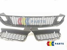 BMW 6 NEW GENUINE F06 F12 F13 FRONT M SPORT BUMPER LOWER GRILL SET OF THREE