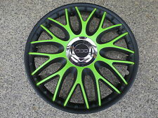 TOP Preis !!! 4 Radkappen 15 Zoll Orden black/grün für Fiat 500