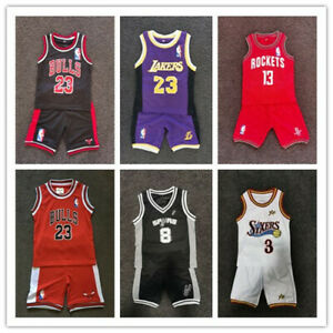 kids basketball jersey Toddler oldschool set top+ short  Clothes 1-5 Year