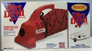 Royal Dirt Devil Hand Vacuum Model DD120T 1994 Corded USA Made Red Sweeper - NEW