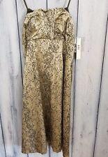 NEW Antonio Melani Dress Strapless Moss Gold Lined Fancy Formal 169$