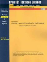 Criminal Law and Procedure for the Paralegal, Paperback by McCord, James W. H...