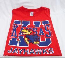 Kansas Jayhawks KU Mens Red T-Shirt XL Made in USA by Gait Sand