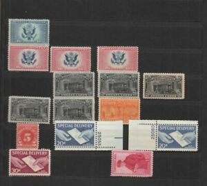 1930-50s Mini-Lot of Special Delivery MNH/Mint - See Picture
