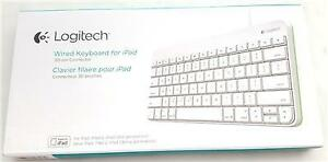 Logitech Wired Keyboard for iPad , iPad2 and iPad 3rd Gen - White NEW