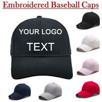 NEW Personalised Custom Embroidered Baseball Cap With ANY TEXT/LOGO-Unisex Hat