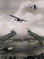 VINTAGE PHOTOGRAPH ARCHITECTURE SYDNEY HARBOUR BRIDGE POSTER ART PRINT BB12289B
