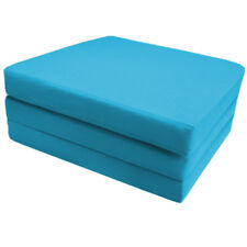 Turquoise 100 Cotton Fold out Zbed Cube Sleepover Guest Mattress Futon Chairbed