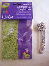 Glitz Shawl Pin W/Stone Cluster