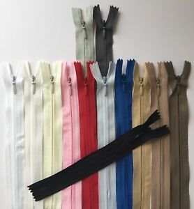 Invisible zips (6,8,10,12,14..24 inch)  Concealed,Woven,Close-end Tape