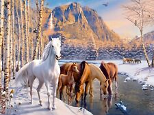 Ravensburger - 200 XXL BIG PIECE JIGSAW PUZZLE - Winter Horses