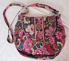 Vera Bradley Hipster Crossbody Bag Purse Mod Floral Pink Pattern  #5526