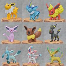 9pcs Go eevee evolution action figure Monster Collection Figurine 5cm No Box