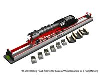 HO (3-Rail, for Marklin) Rolling Road w/Drive Wheel Cleaning