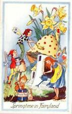 ARTIST SIGNED LORNA STEELE SPRINGTIME IN FAIRYLAND PIXIE ELVES