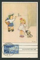 USA MK 1957 CHILDREN DAY KINDER HUND MAXIMUMKARTE CARTE MAXIMUM CARD MC CM c9568