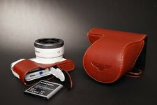Genuine real Leather Full Camera Case bag for Samsung NX3000 16-50 22-50 Lens