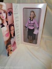 NEW 1998 Avon Barbie Special Edition Avon Representative Rep Blonde Pink Doll