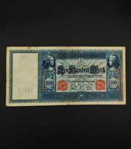 German World War Period 1910 100 Mark Reichsbanknote fine