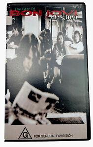 The Best Of Bon Jovi Cross Roads VHS Video Cassette Tape PAL G