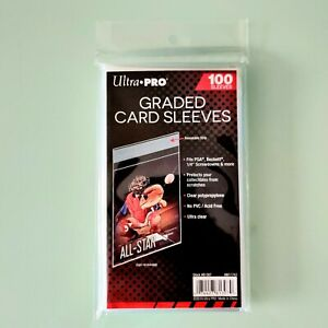 Ultra Pro Graded Card Sleeves (100ct) - Resealable Bags Fits PSA & Beckett Slabs