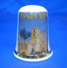 Birchcroft China Thimble -- Travel Poster Series - Honduras - Free Dome Box