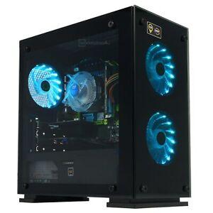 Gamemax RGB PC Intel 1620 Quad Core 16 GB ram 256 GB SSD PSU Geforce GT710 Win10