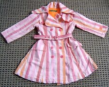 OILILY GIRLS PINK STRIPED TRENCH COAT SZ  104 ( 4-5)