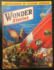 """Wonder Stories"""" October 1932 Awesome Frank Paul Cover"""