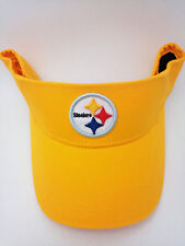 Pittsburgh Steelers Hat Adult Team Color Yellow Cotton Sun Visor by Reebok 261a20b0fac0