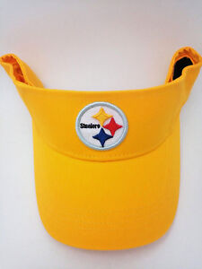Pittsburgh Steelers Hat Adult Team Color Yellow Cotton Sun Visor by REEBOK