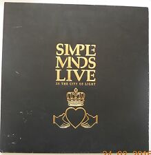 Simple Minds In the City of Light LIVE Limited Edition Glitter Embossed Foil