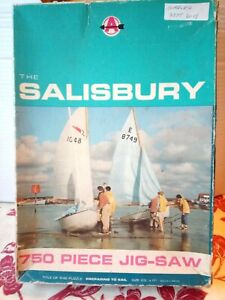 Arrow Preparing to Sail 750 Pc Jigsaw Puzzle Complete Vintage Yacht Sailing Boat