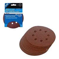 10 x Hook and Loop 125mm Sanding Disc 120 Grit Palm Sander Orbital Circular Pads