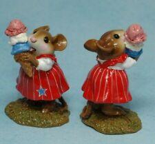 New M-277 Limited, Yummy, Rwb Figurine, Wee Forest Folk, 2003, 3 scoop Ice cream