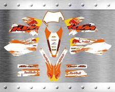 Kit Completo Grafiche Ktm Exc Exc-f 2005 2006 2007 Sx Sx-f 2004 2005 2006