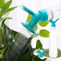 2In1 Plastic Nozzle For Flower Plant Waterers Bottle Watering Cans Sprinkler &
