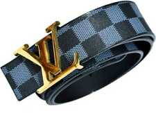 Belts Lou Grey Monogram Belt 100cm/40mm Supreme With GOLDEN BUCKLE