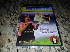 JR Scientist Volume 1 with Miss Ava The Science Lady DVD Brand New Fossil Ooze +