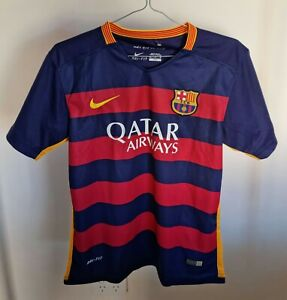 Nike Barcelona Messi 2015/16 Junior Soccer Jersey Blue Size 28 US Size 9