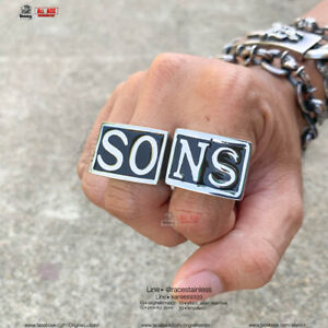 Ring SONS Sons of anarchy Jax teller Stainless 316L Ring Sz7-12