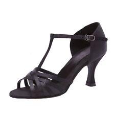 """Capezio Ashley: 2.5""""Black Satin Competitive Ballroom Dance Shoe Non-Returnable"""