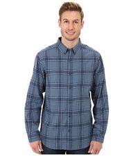 Mens Tall Columbia Rapid Rivers II Long Sleeve Shirt 4XT Blue Mountain PLAID NWT